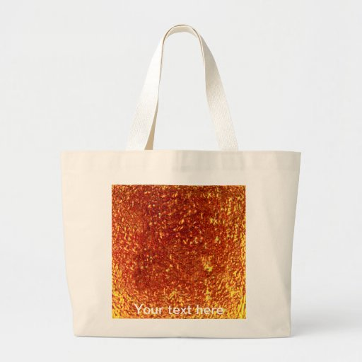 Golden fused glass canvas bags