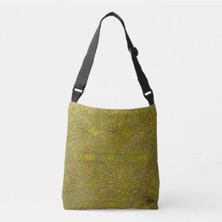 Golden Garden Crochet-Look Pattern Abstract Design Tote Bag