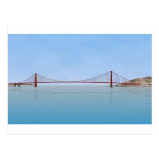 Golden Gate Bridge 3D Model Post Cards