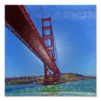 Golden Gate Bridge 3D Poster