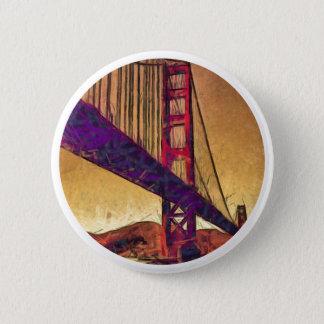 Golden gate bridge 6 cm round badge