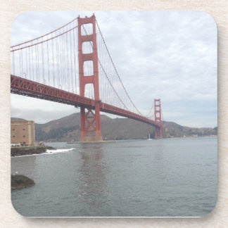 Golden Gate Bridge 6 coasters with cork backing