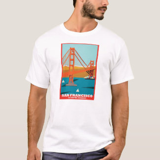 Golden Gate Bridge 75th Tee by Rhonel