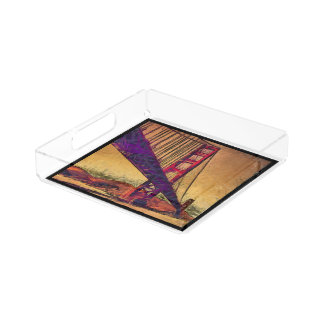 Golden gate bridge acrylic tray