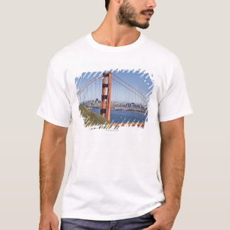 Golden Gate Bridge and San Francisco. T-Shirt