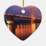 Golden Gate Bridge at Night Christmas Tree Ornaments