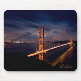 Golden Gate Bridge at Night Mouse Pad
