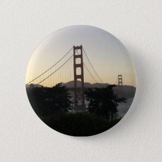 Golden Gate Bridge at Sunset 6 Cm Round Badge