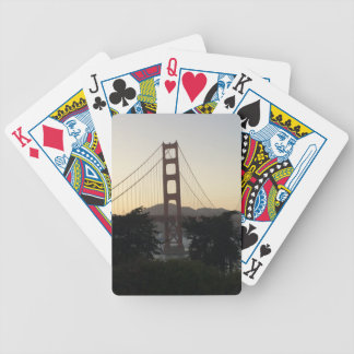 Golden Gate Bridge at Sunset Bicycle Playing Cards