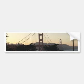 Golden Gate Bridge at Sunset Bumper Sticker