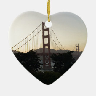 Golden Gate Bridge at Sunset Ceramic Ornament