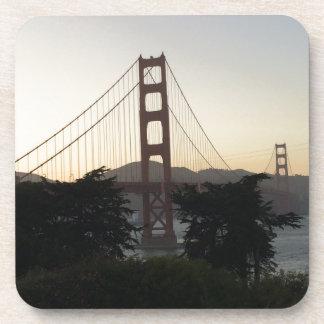 Golden Gate Bridge at Sunset Coaster
