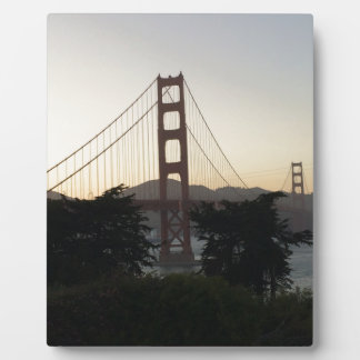Golden Gate Bridge at Sunset Display Plaque