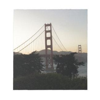 Golden Gate Bridge at Sunset Notepad