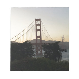 Golden Gate Bridge at Sunset Notepads