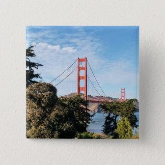 Golden Gate Bridge, California CA 15 Cm Square Badge