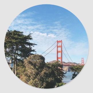 Golden Gate Bridge, California CA Classic Round Sticker