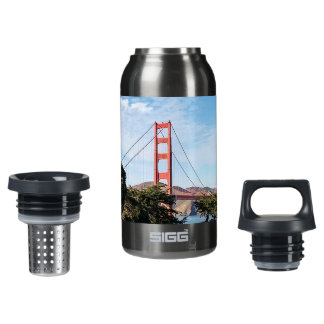 Golden Gate Bridge, California CA Insulated Water Bottle