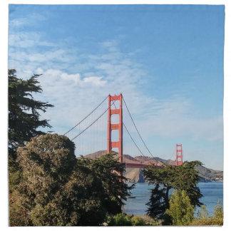 Golden Gate Bridge, California CA Napkin