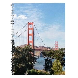 Golden Gate Bridge, California CA Notebook