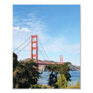 Golden Gate Bridge, California CA Photo Print