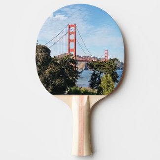 Golden Gate Bridge, California CA Ping Pong Paddle