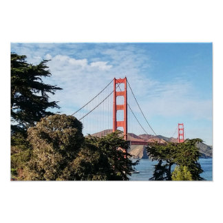 Golden Gate Bridge, California CA Poster