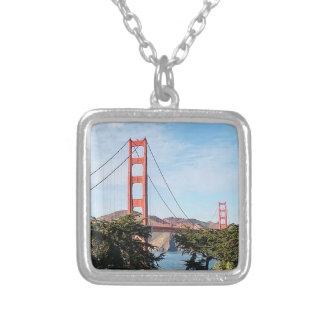 Golden Gate Bridge, California CA Silver Plated Necklace