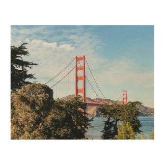 Golden Gate Bridge, California CA Wood Wall Art