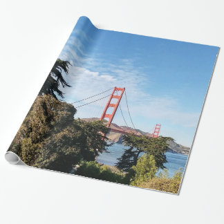 Golden Gate Bridge, California CA Wrapping Paper