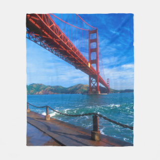 Golden Gate Bridge, California Fleece Blanket