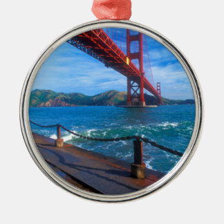 Golden Gate Bridge, California Metal Ornament