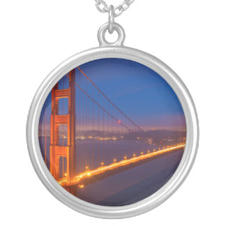 Golden Gate Bridge, California Silver Plated Necklace