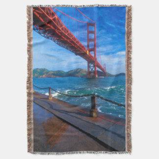 Golden Gate Bridge, California Throw Blanket