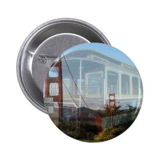 Golden Gate Bridge collage with cablecar 2 jpg Button