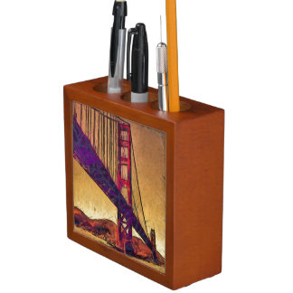 Golden gate bridge desk organiser