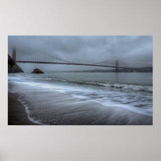 Golden Gate Bridge from Kirby Cove Beach Poster