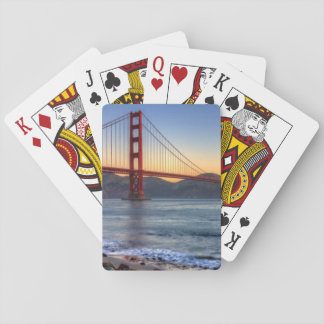 Golden Gate Bridge from San Francisco bay trail. Playing Cards