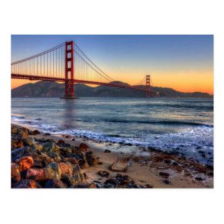 Golden Gate Bridge from San Francisco bay trail. Postcard