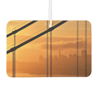Golden Gate Bridge in front of the San Francisco Car Air Freshener