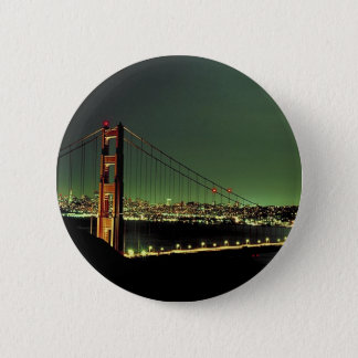Golden Gate Bridge in Green 6 Cm Round Badge