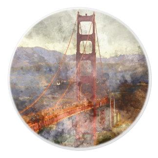 Golden Gate Bridge in San Francisco California Ceramic Knob