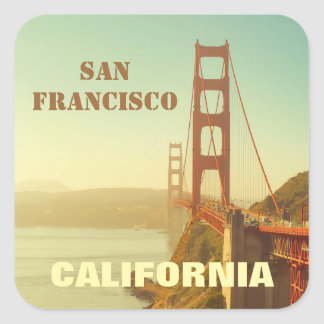 Golden Gate Bridge in San Francisco California Square Sticker