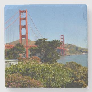 Golden Gate Bridge in San Francisco California Stone Coaster