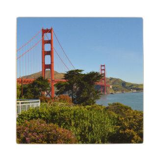 Golden Gate Bridge in San Francisco California Wood Coaster