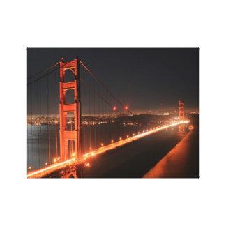 Golden Gate Bridge Lit up At Night - San Francisco Canvas Print