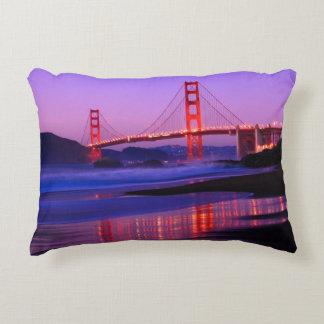 Golden Gate Bridge on Baker Beach at Sundown Decorative Cushion