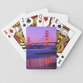 Golden Gate Bridge on Baker Beach at Sundown Playing Cards