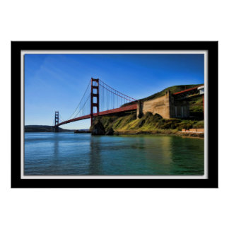 Golden Gate Bridge Painterly Style Poster