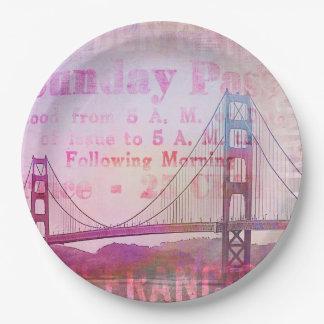 Golden Gate Bridge Paper Plate